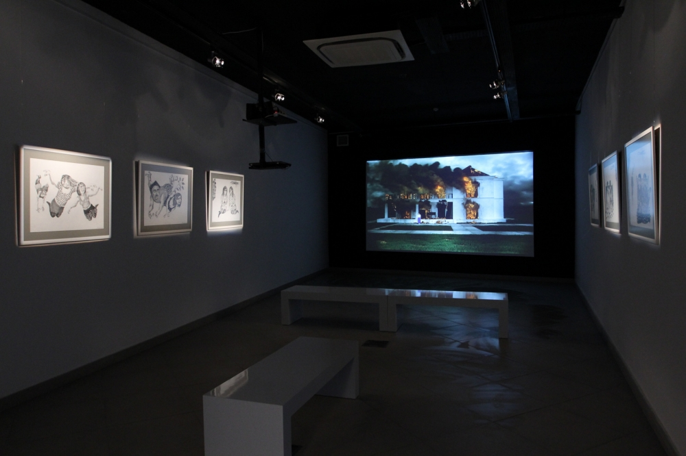 View from 'Stalemate' group exhibition. January - February 2013